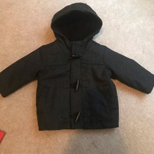 Baby boy pea coat. Charcoal gray